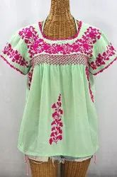 Hand embroidered Mexican Blouses