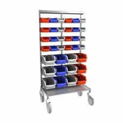 Hospital Instrumental Trolley - (ITR - 606) - Trolley With Stainless Steel Structure & Matt Finish