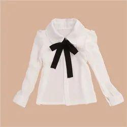 White Cotton School Uniform Girls Shirt