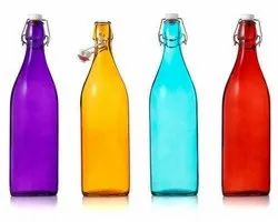 Coloured Glass Water Bottle, Capacity: 500 Ml To 1 Liter, Packaging Type: Box