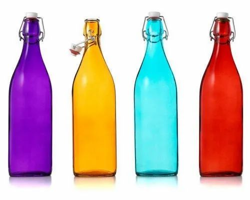 Coloured Glass Water Bottle