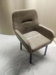Grey Fabric Single Seater Chair, Size: 26 x 26 x 36 inch