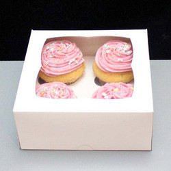 Square paper Cupcake Boxes