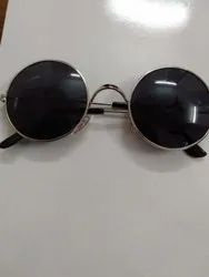 Round Nickel Black Sun Goggles