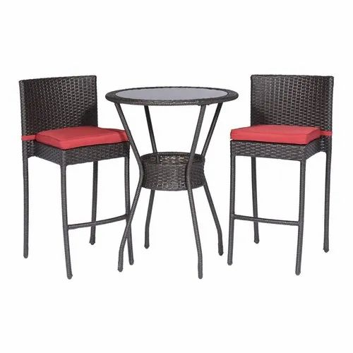 Outstanding 2 Rattan Chair And Round Table Bar Stool Set Pabps2019 Chair Design Images Pabps2019Com