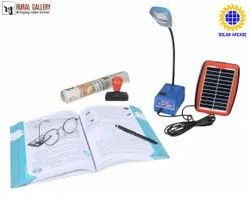 2 Watt Study Lamp With In Built Lithium Ion Battery 10 Leds And With 2 Watt Solar Panel