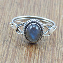 LIGHT WEIGHT 925 SILVER JEWELRY LABRADORITE GEMSTONE NEW RING WR-5008