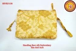 Handbag Rawsilk Embroidery