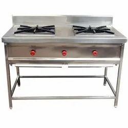 Silver SS Double Burner Stoves, Model Name/Number: STARLAND