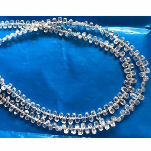 White Rough Briolette Diamond