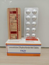 FIKZY Levocetirizine Dihydrochloride Melt Tablet, For Oral, Packaging Type: Box