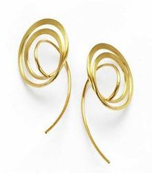 Designer Minimalist Gold Plated Earrings