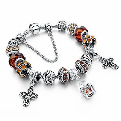 1c9f9682c Indian 925 Sterling Silver Pandora Bracelet, खरे चांदी का ...