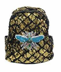 Golden Sequin Kids Backpack