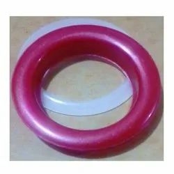 Normal Size Maroon Plastic Eyelet Ring With Washer