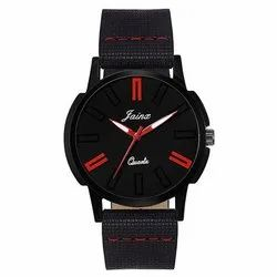 Jainx All Black Dial Analog Watch for Men, Boys & Kids JM258