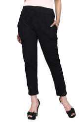 Women Cotton/Linen Straight Pant