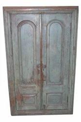 Shree Karni Handicrafts Multicolor Wooden Big Window With Door And Mirror Fitted