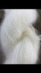 White Mohair Yarn for Knitting