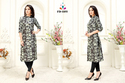PR Fashion Launched Beautiful Lovely Cape Patterned Readymade Kurti in Navy Blue