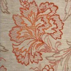 54 Inch Dark Terracotta Fabric Big Flower