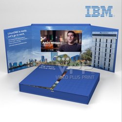 Landscape Blue Video Marketing Brochure, Size: A5