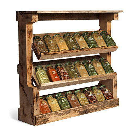 Woodworking Plans For Kitchen Spice Rack: Wooden Spice Rack, Kitchen & Dining Furniture