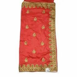 Party Wear Ladies Hand Work Silk Saree, 5.5 M ( Separate Blouse Piece)