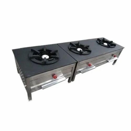 3 Burner Gas Stove, Packaging Type: Box