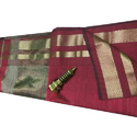 Maroon Red Casual Maheshwari Sarees, With Blouse Piece