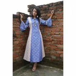 Ladies Rayon Printed Long Kurti