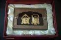 Padmavati Balaji Pair Gold Leaf Frame 24 kt.
