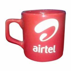 Red, White Promotional Coffee Mug, Packaging Type: Box