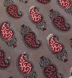 Traditional printed cotton fabric