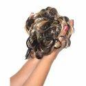 Women Curly Hair Bride Bun Extensions