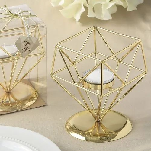 A Brass Candle Lamp