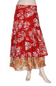 Womens Silk Wrap Skirts