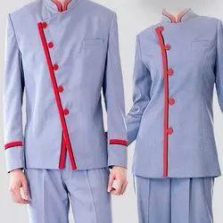 Cotton Shirt and Pant Hotel Housekeeping Uniform