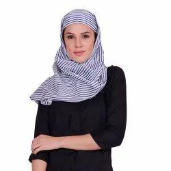 2米凯伊特女士休闲条纹棉围巾