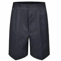 Black Plain School Half Pant