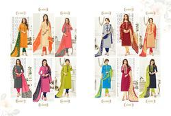 DESIGNER COTTON CHURIDAR SUITS