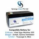 12 Volts 3.3Ah SLA Medical Battery