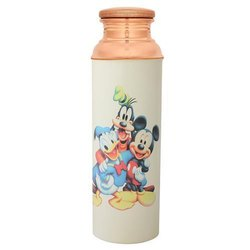 750 ml Printed Copper Bottle