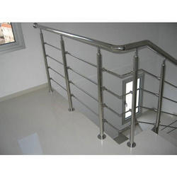 Silver Steel Stair Railing
