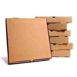 6 Inch Brown Corrugated Pizza Box - Design Print
