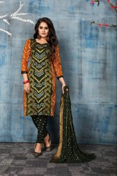 BANARASI PANEL DRESS MATERIALS