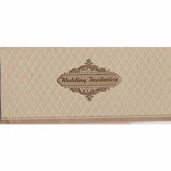 Rectangular Paper Unique Muslim Wedding Card