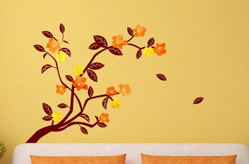 multi color wall ons branch wall sticker, size : 76.2cm x 30.48cm