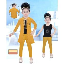 Party Wear Baby Girl Indo Western Dress, Size: 22-32