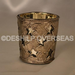 Silver Antique Candle Holder
